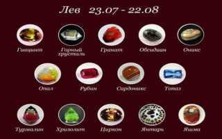 Какие камни подходят по гороскопу Львам?