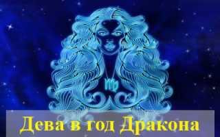 Характеристика Девы, рожденной в год Дракона
