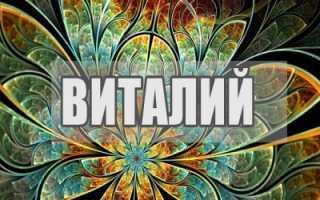Имя Виталий – значение, судьба и характер