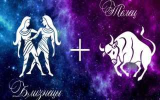 Телец и Близнецы: совместимость женщин и мужчин в любви и браке