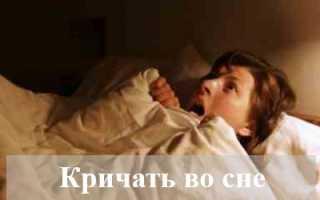 Толкование сонника: к чему снится кричать во сне?