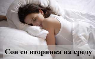Если человек снится со вторника на среду