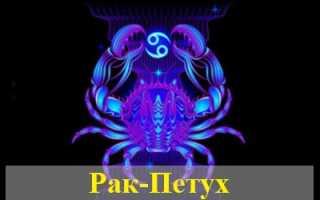 Знаки зодиака: Рак, рождённый в год Петуха