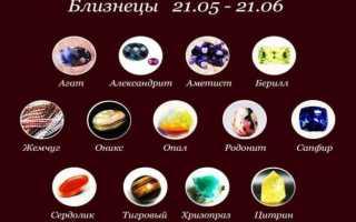Натуральные камни-талисманы для знака зодиака Близнецы