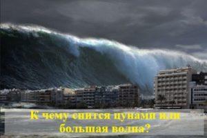 К чему снится цунами или большая волна?